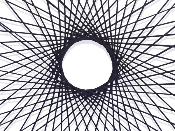 輪弧中 黒 - 竹のインテリア - ...